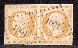 Napoléon III N° 13Ab Avec Oblitèration Losange 1001 En Paire  TTB - 1853-1860 Napoléon III