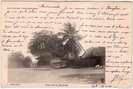 BENIN DAHOMEY UNE RUE A ABOMEY 1904 PRECURSEUR TBE - Benin