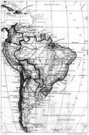 BRESIL CARTE GEOGRAPHIQUE DE L'AMERIQUE DU SUD TBE - Brésil