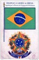 BRESIL DRAPEAU ET ARMES ESTADOS UNIDOS DO BRAZIL TBE - Brésil