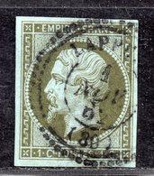 Napoléon III N° 11 Avec Oblitération Cachet à Date Perlé  TTB - 1853-1860 Napoléon III