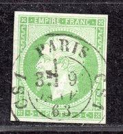 Napoléon III N° 12 Avec Oblitération Cachet à Date  TTB - 1853-1860 Napoléon III