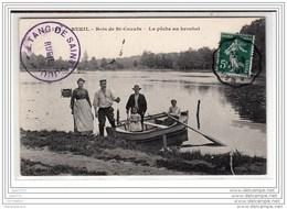 5559 D92R AK/PC/CPA/ RUEL / BOIS DE ST CUCUFA / LA PECHE AU BROCHET / CACHET DE L ETANG /EDIT. A. OSSART / 1908 - Rueil Malmaison