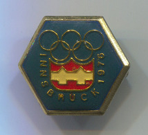 Olympic Olympiade - Innsbruck 1976. Austria, Vintage Pin, Badge, Abzeichen - Olympic Games