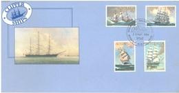AUSTRALIA  - FDC - 23.5.1984 - CLIPPER SHIPS  - Yv 857-860 - Lot 18666 - Premiers Jours (FDC)