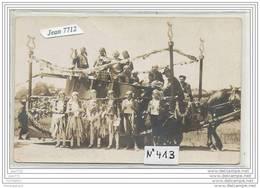 3694 AK/PC/CARTE PHOTO/N°412/MI CAREME 1923/ATTELAGE CHAR/FETE A IDENTIFIER - Da Identificare