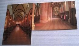 2 CARTOLINE MIRANDOLA CHIESA DI SAN FRANCESCO (153) - Chiese E Cattedrali