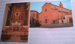 2 CARTOLINE MIRANDOLA CHIESA DI SAN FRANCESCO (154) - Chiese E Cattedrali