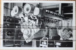Hm3.r- Photo 13x18cm Moteur Diesel Aviso Classe COMMANDANT-RIVIERE SGCM ACB SEMT Pielstick 1962 Marine Nationale Guerre - Bateaux