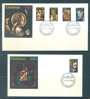 AUSTRALIA  - FDC - 17.9.1984 AND 31.10.1984 - CHRISTMAS  - Yv 875-879 - Lot 18669 - Premiers Jours (FDC)