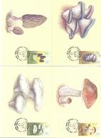 2017. Kyrgyzstan, Edible Mushrooms Of Kyrgyzstan, 4 Maxicards, Mint/** - Kirghizistan