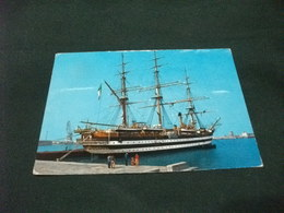 NAVE SHIP VELIERO 1° PIANO NAVE SCUOLA A. VESPUCCI LIVORNO  IN PORTO - Segelboote