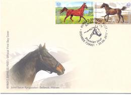 2017. Kyrgyzstan, 25y Of Diplomatic Relations With Belarus, Joint Issue With Belarus, FDC, Mint/** - Kirghizistan