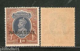 India NABHA State 1Re Postage KG VI SG 89 / Sc 81 Cat �14 MNH - Nabha