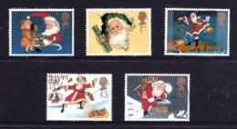 Great Britain 1997 Christmas Set Of 5 Used - 1952-.... (Elizabeth II)