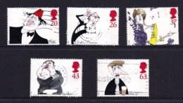 Great Britain 1998 Comedians Set Of 5 Used - 1952-.... (Elizabeth II)