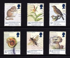 Great Britain 1998 Endangered Species Set Of 6 Used - 1952-.... (Elizabeth II)