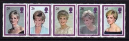 Great Britain 1998 Diana. Princess Of Wales Set Of 6 Used - 1952-.... (Elizabeth II)