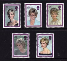 Great Britain 1998 Diana. Princess Of Wales Set Of 6 Used - - 1952-.... (Elizabeth II)