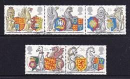 Great Britain 1998 Order Of The Garter - The Queens' Beasts Set Of 5 Used - 1952-.... (Elizabeth II)