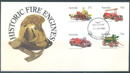 AUSTRALIA  - FDC - 12.1.1983 - HISTORIC FIRE ENGINES  - Yv 806-809 - Lot 18671 - Premiers Jours (FDC)