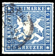 1865, Altdeutschland Württemberg, 32 A, Gest. - Wuerttemberg