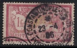 MERSON - CONSTANTINOPLE-GALATA - POSTE FRANCAISE - SUR N°121. - Marcophilie (Timbres Détachés)