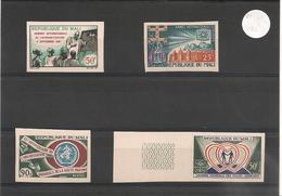 MALI   Années 1967/69  N° Y/T :100-105-108/109**  Non Dentelés - Mali (1959-...)