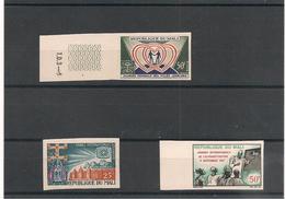 MALI   Années 1967/69  N° Y/T :100-105-109**  Non Dentelés - Mali (1959-...)