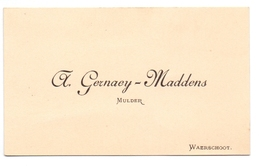Visitekaartje - Carte Visite - Mulder A. Gernay - Maddens - Waarschoot - Cartes De Visite