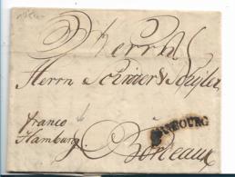 DK-V013 /  DÄNEMARK - Helsigoer 1754, Franco Hambourg (Hamburg) - Danimarca