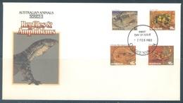 AUSTRALIA  - FDC - 2.2.1983 - REPTILES  AMPHIBIANS  - Yv 812-815 - Lot 18672 - Premiers Jours (FDC)