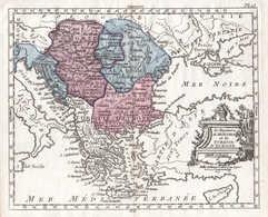 Le Royaume De Hongrie Et La Turquie D'Europe - Ungarn Hungary Rumänien Romania Bulgarien Bulgaria Karte Map Ku - Estampes & Gravures