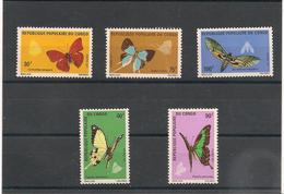 MALI   Année 1971 PAPILLONS  N° Y/T : 303/307** Côte : 18,75 € - Mali (1959-...)