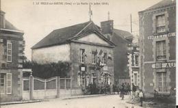 Carte Postale Ancienne  De Le Mesle Sur Sarthe La Mairie Le 14 Juillet 1916 - Le Mêle-sur-Sarthe