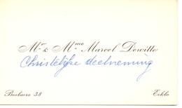 Visitekaartje - Carte Visite - Marcel Dewitte - Eeklo - Cartes De Visite