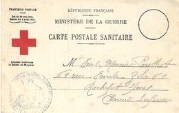 WWI  - Carte Postale Sanitaire Avec Croix Rouge D'un Hôpital D'évacuation ( Officier Blessé ) - Postmark Collection (Covers)