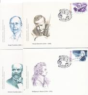 2016. Kyrgyzstan, Great Musicians And Composers, 4 FDC, Mint/** - Kirghizistan