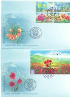 2016. Flora Of Kyrgyzstan, Wild Flowers, 2 FDC, Mint/** - Kirgisistan