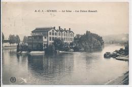 Sèvres (92 Hauts De Seine) La Seine Ile Seguin Les Usines Du Constructeur Renault - édit L'abeille AC N° 3 Circulée 1937 - Sevres