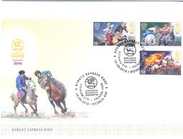 2016. Kyrgyzstan,World Nomad Games,  FDC, Mint/** - Kirghizistan