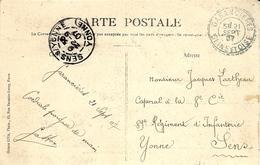 1907- C P A  Affr. 5 C Oblit. Facteur-boitier Cad Bleu De GARANCIERES / SEINE-ET-OISE - Marcofilie (Brieven)
