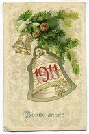 CPA - Carte Postale - Belgique - Bonne Année - Cloche - 1910 (SV6626) - Nouvel An