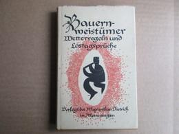 Bauern-weistümer Wetterregeln Und Lostagsprüche - Livres, BD, Revues