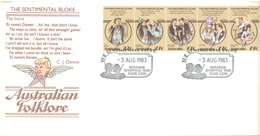 AUSTRALIA  - FDC - 3.8.1983 - FOLKLORE THE SENTIMENTAL BLOKE - Yv 835-839 - Lot 18675 - Premiers Jours (FDC)