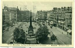 Bruxelles - Brussel : La Place De Brouckère Vue à Vol D'oiseau - 1936 + écrit En Esperanto - Marktpleinen, Pleinen