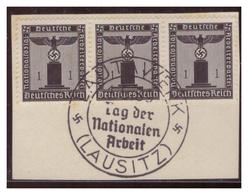 Dt-Reich (007296) Sonderstempel Auf Briefstück, Lauta Werk (Lausitz), Tag Der Nationalen Arbeit, Gestempelt 1938 - Deutschland