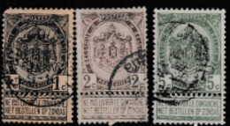 1893 DEFINITIVE STAMPS FROM BELGIUM USED / COAT OF ARMS/SCARCE1893 - 1893-1907 Coat Of Arms