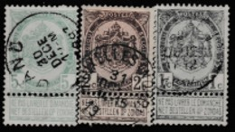 1893 DEFINITIVE STAMPS FROM BELGIUM USED / COAT OF ARMS/SCARCE - 1893-1907 Coat Of Arms