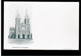 INDOCHINA Cathedrale De Saigon Ca 1900 OLD POSTCARD 2 Scans - Viêt-Nam